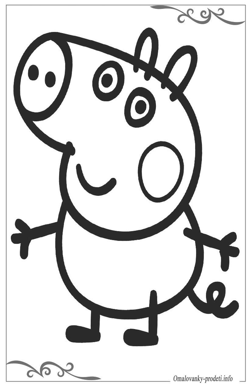 Kleurplaten Peppa Pig.Kleurplaat Peppa Pig George Peppa Pig Kleurplaten Topkleurplaat Nl